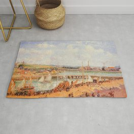 The Port Of Dieppe The Dunquesne And Berrigny Basins High Tide Sunny Afternoon 1902 By Camille Pissa Rug