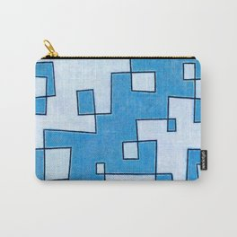 Protoglifo 05 White clouding to blue Carry-All Pouch