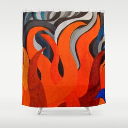 Battle of the Elements: Fire Shower Curtain