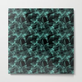 Abstract pattern.the effect of broken glass.Black background. Metal Print