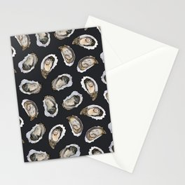 Oysters by the Dozen in Charcoal Stationery Cards
