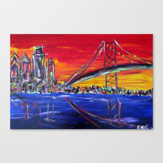 Ben Franklin Bridge Sunrise Canvas Print