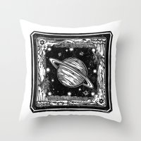 saturn Throw Pillows featuring Saturn by Ouizi - Los Angeles