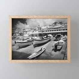 Harbour Framed Mini Art Print