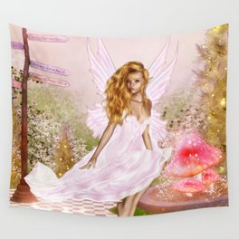 Pink Opal Wall Tapestry
