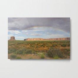 Monument Valley Rainbow Metal Print