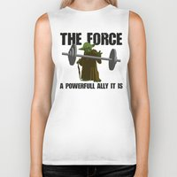 fitness Biker Tanks featuring Force Fitness by Niels Revers Design
