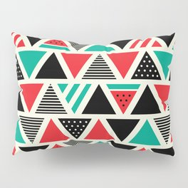 Watemelon Geometric Triangles Pattern Pillow Sham