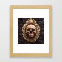 Catacomb Culture - Vintage Human Skull Framed Art Print