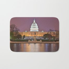 Glowing Washington DC Capitol Bath Mat