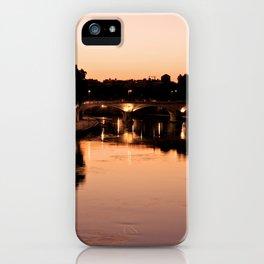 Tiber river at sunset iPhone Case