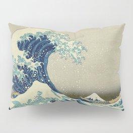 Ukiyo-e, Under the Wave off Kanagawa, Katsushika Hokusai Pillow Sham