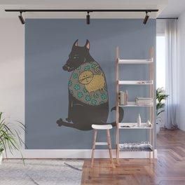 Black Dog in a Kitten Coat Wall Mural