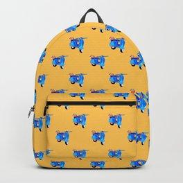 Blue vintage vespa Backpack