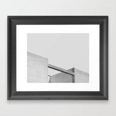 Sleepy Buildings Framed Art Print
