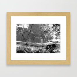 Country bench Framed Art Print