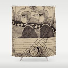 The Golden Fish (2) Shower Curtain