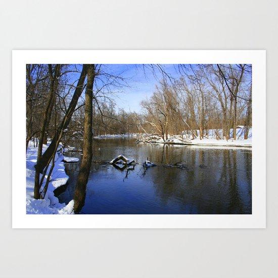Winter Days Art Print