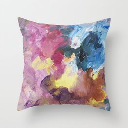 Drinking Up the Rain Abstract Painting Throw Pillow
