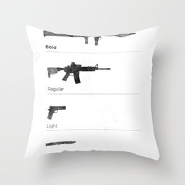 Typographer's Arsenal Throw Pillow