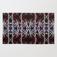calligraphy Area & Throw Rugs featuring Abstract Calligraphy  by Martha Calderon