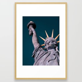 Statue of Liberty in infra red Framed Art Print