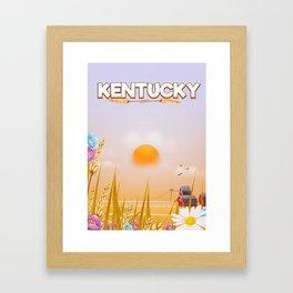 Kentucky great egg yolk in the sky. Framed Art Print