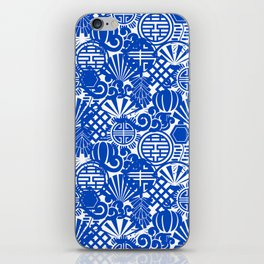 Chinese Symbols in Blue Porcelain iPhone Skin