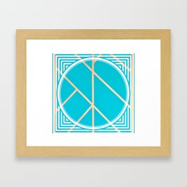 Leaf - circle/line graphic Framed Art Print