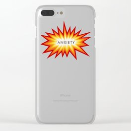 ANXIETY Clear iPhone Case