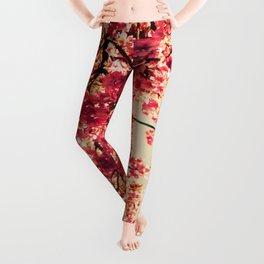 floWers : Romantic Vintage Blossoms Leggings