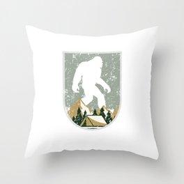 Bigfoot Research Team Chicago Hide and Seek Art Throw Pillow