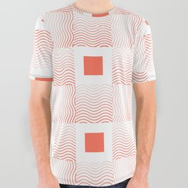 Rachel's Wavy Coral Pattern All Over Graphic Tee