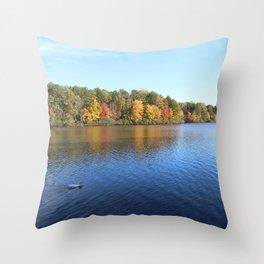 Heavenly Golden Reflection Throw Pillow