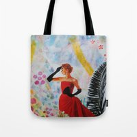 vogue Tote Bags featuring Vogue by John Turck