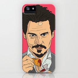 Johnny Depp With Chicken Nugget iPhone Case