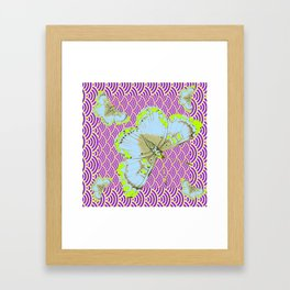 CHARTREUSE-WHITE EXOTIC BUTTERFLY Framed Art Print