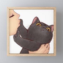 cat : huuh Framed Mini Art Print