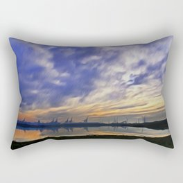 The Docks (Digital Art) Rectangular Pillow