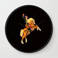 las vegas Wall Clocks featuring Las Vegas by Tatiana