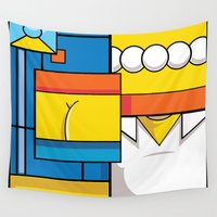 simpson Wall Tapestries featuring Abstract Simpson by REMart