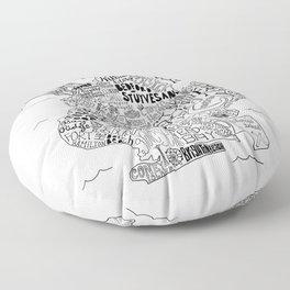 Brooklyn Map Floor Pillow