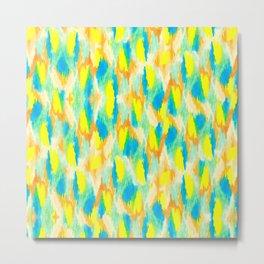 Neon Camouflage Metal Print