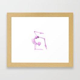 Skeleton in Scorpion Pose Framed Art Print