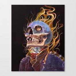 My Ghost Rider - Spirit of Vengeance Portrait: in Memory of Stan Lee Canvas Print