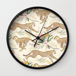 Weightless Cheetahs in Boundless Safari  Wall Clock