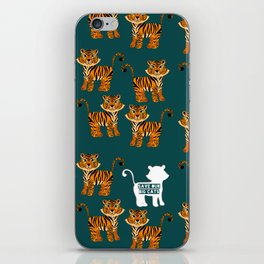 Save the tigers iPhone Skin