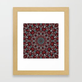 Red-gray mandala Framed Art Print