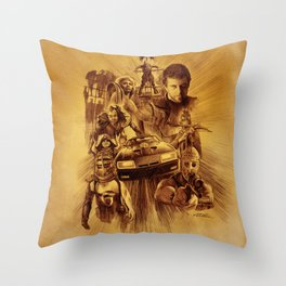 Homage to Mad Max Throw Pillow