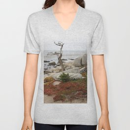 Dead Cypress At Pebble Beach Unisex V-Neck